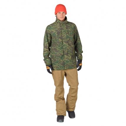 Analog Tollgate Mens Noodle Camo Snowboard Jacket  model front