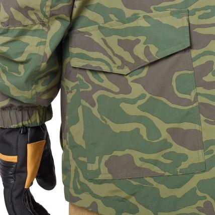 Analog Tollgate Mens Noodle Camo Snowboard Jacket pocket