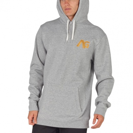 Analog Crux Mens Grey Heather Snowboard Hoodie model front