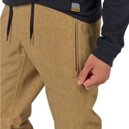 Analog Thatcher Slim Kelp Mens Snowboarding Pant zip close up