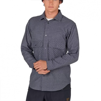 Analog ATF Operative Heathers Check Flannel Shirt  model front