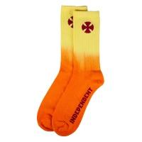 Independent - Light It Up Skateboard Socks in Orange