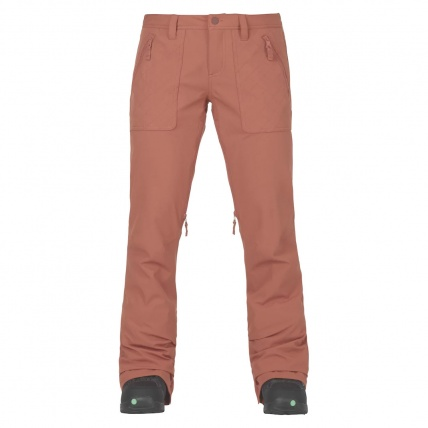 Burton Vida Womens Snowboard Pant in Dusty Rose front