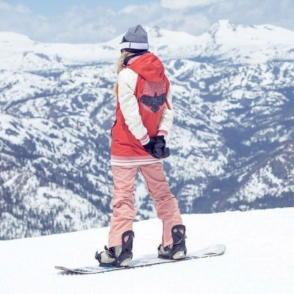 Burton Vida Womens Snowboard Pant in Dusty Rose mountain