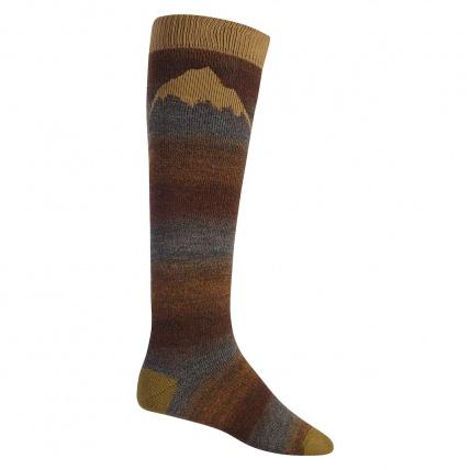 Burton Merino Emblem Chestnut Snowboard Socks