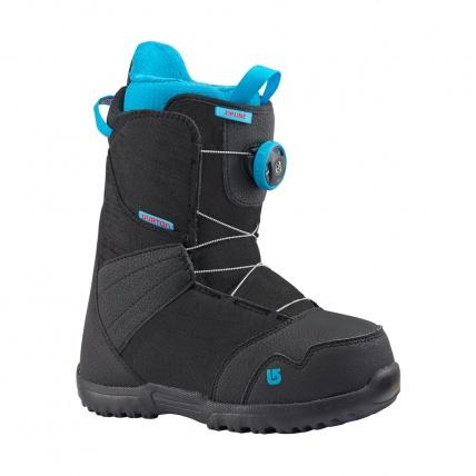 Burton Kids Zipline Boa Snowboard Boots in Black front