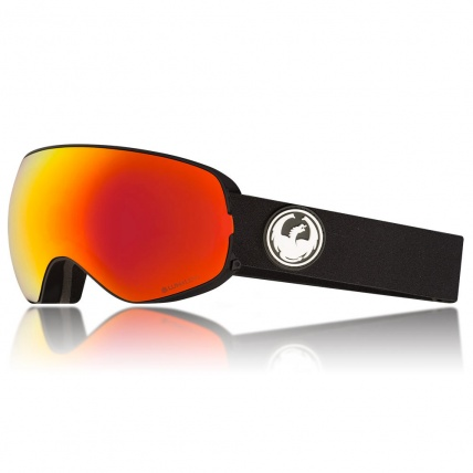 Dragon X2s Black Lumalens Red Ion Snowboard Goggles