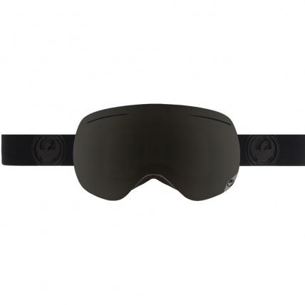 X1 Knightrider Dark Smoke 3 Lens Snow Goggles front