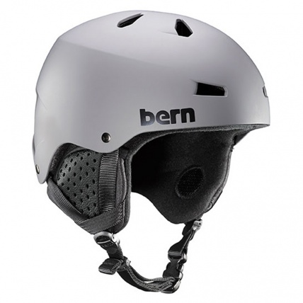 Bern Macon EPS Matte Grey Snow Helmet with Black Liner