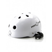 Protec - Gloss White Helmet - Certified