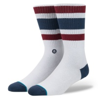 Stance - BOYD 3 Classic Light Skate Socks in White Red