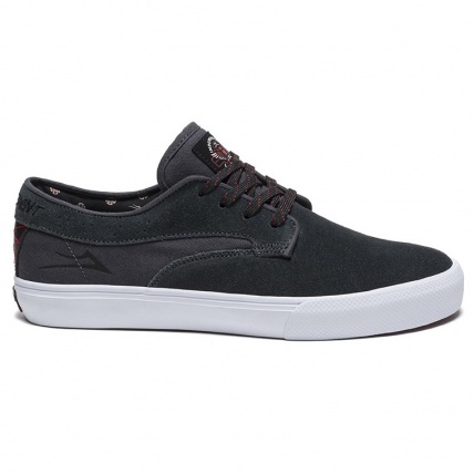 Lakai Riley Hawk X Indy Charcoal Skate Shoes Side View