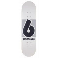 Birdhouse Skateboards - 8.25in Block Logo Deck Grey White