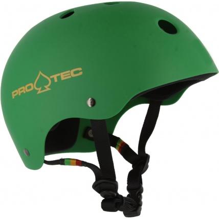 PoTec Classic Helmet in Rasta Green
