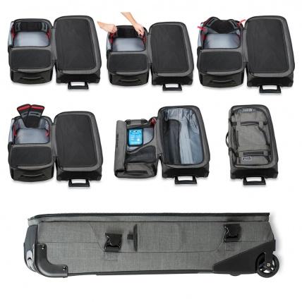 Dakine Split Roller 85L Luggage Travel Bag in Carbon Split Wing collapsible