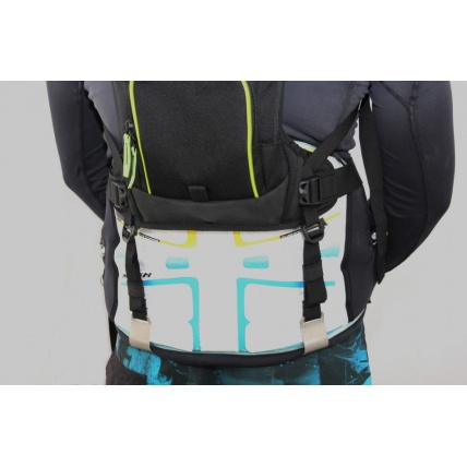 Wizmount Waist Harness Straps for Kitesurfing Windsurf on Wizmount in use on harness