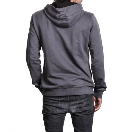 Mystic Carving Sweat in Rock Grey back