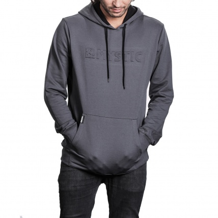 Mystic Carving Sweat in Rock Grey front