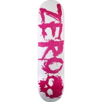 Zero Skateboards - Deck Blood Pink and White 8.25