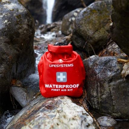 Life Venture Waterproof First Aid Kit in use waterproof