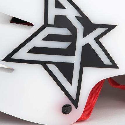 Rekd Protection Elite Icon White Semi-Transparent Helmet