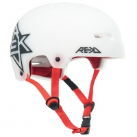 Rekd Protection - Elite Icon White Semi-Transparent Helmet