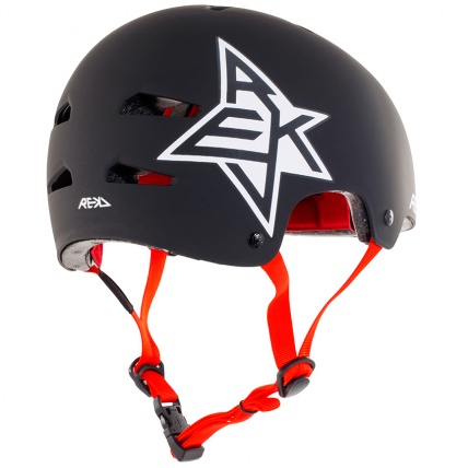 Rekd Protection Elite Icon Helmet Black and White
