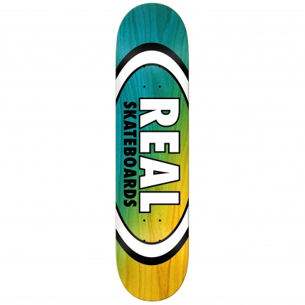Real Angle Dip Oval Blue and Yellow 8.25 Skate Deck