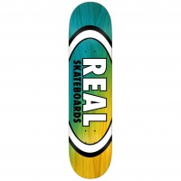Real - Angle Dip Oval Blue and Yellow 8.25 Skate Deck