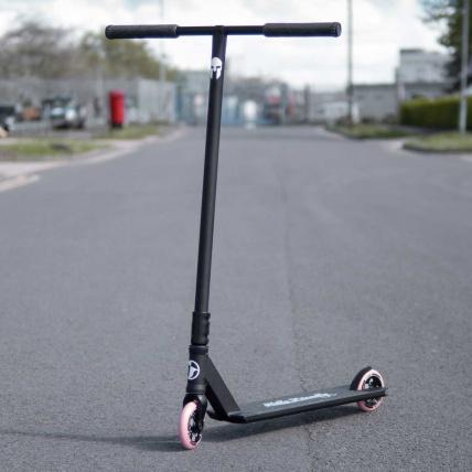 ATBShop custom street scooter. TSI Paramount deck, Tilt Fork, Tilt Clamp, Lucky Zephyr wheels