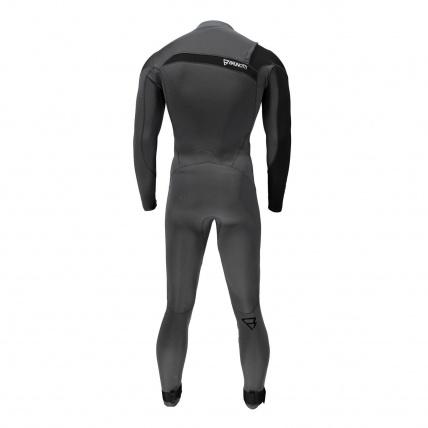 Brunotti Bravo 3/2 FZ Mens Full Summer Wetsuit Black back