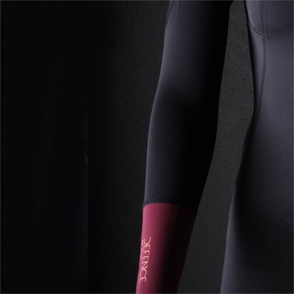 Brunotti Defence Womens 3/2 LA Summer Shorty Wetsuit Coral and Black neoprene detail