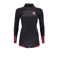Brunotti - Defence Womens 3/2 LA Shorty Wetsuit Coral Black