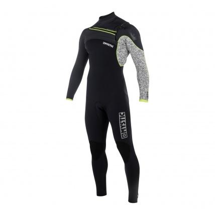 Mystic Drip 4/3 FZ Mens Wetsuit in Grey front