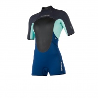 Mystic - Brand 3/2 Womens Summer Shorty Wetsuit Navy