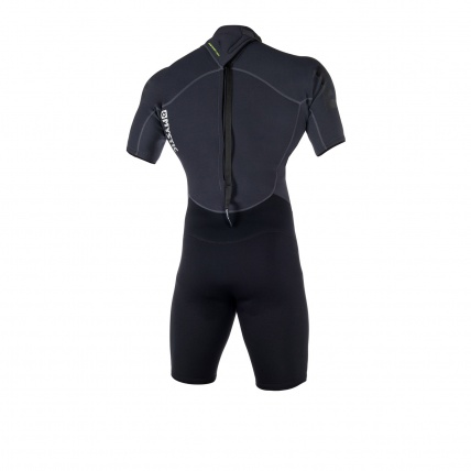 Mystic Brand 3/2 Mens Summer Shorty Wetsuit Black back