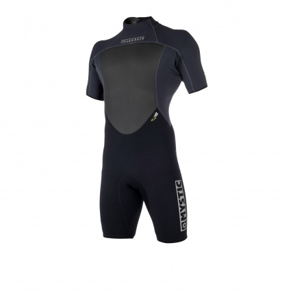 Mystic Brand 3/2 Mens Summer Shorty Wetsuit Black front
