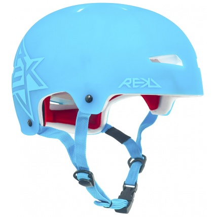 Rekd Protection Elite Icon Blue Semi-Transparent Helmet