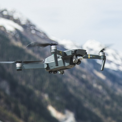 DJI Mavic Pro Drone Fly More Combo in use