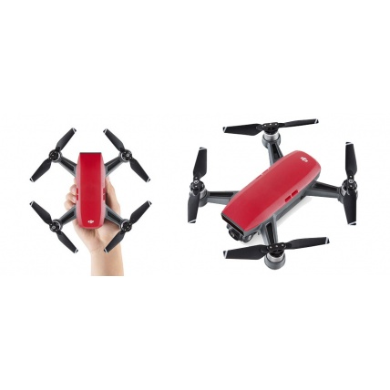 DJI Spark Lava Red Drone Size