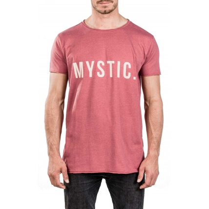 Mystic Skim Red Dark Melee Mens T-shirt