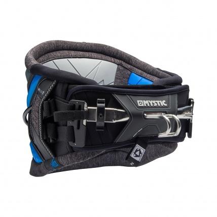 Mystic Warrior V Blue Kitesurfing Waist Harness front
