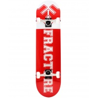 Fracture - Uni Red Complete Skateboard 8.0