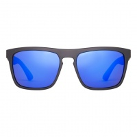 Sinner - Thunder Matt Black Blue Revo Sunglasses