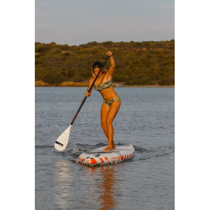 RRD Start 3 Piece PVC Alloy Paddleboard Paddle in use