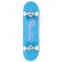 Primitive - Complete Nuevo Script Blue Skateboard 8.0in