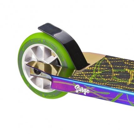 Crisp Surge Colour Chrome Black Green Pro Scooter