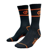District - Scooters Socks in Black and Orange