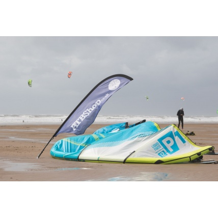 Liquid Force P1 v1 Kitesurfing KiteLight Blue at ATBShop Kitesurf Demo Tour