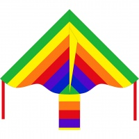 HQ - Ecoline Simple Flyer Kids Rainbow 85cm Kite